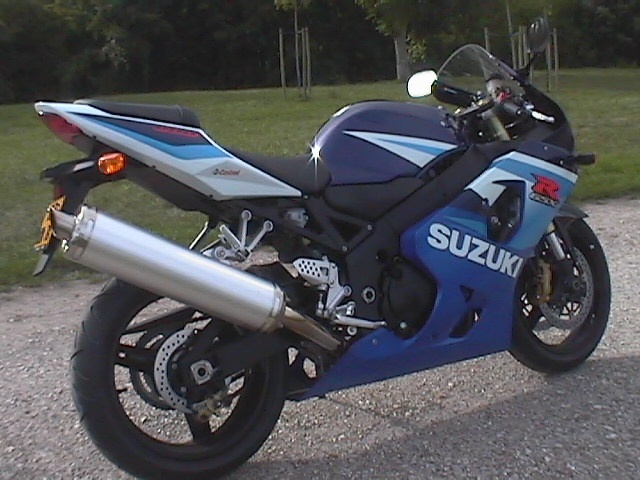 Photo de la Suzuki GSXR 600 modèle 2005
