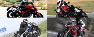 Monster 1200 R, SuperDuke 1290 R, S1000R, Tuono V4