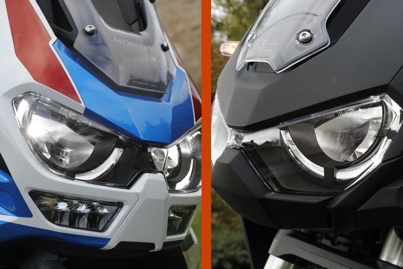 Comparatif Honda Africa Twin 1100 et AT1100 Adventure Sports, comparatif honda africa twin 1100