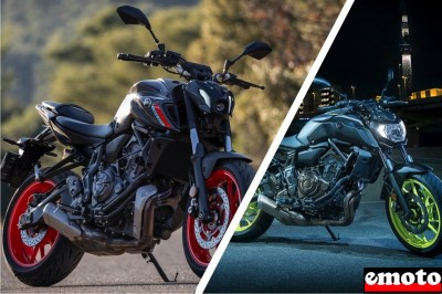 Yamaha MT 07 2021 vs 2018