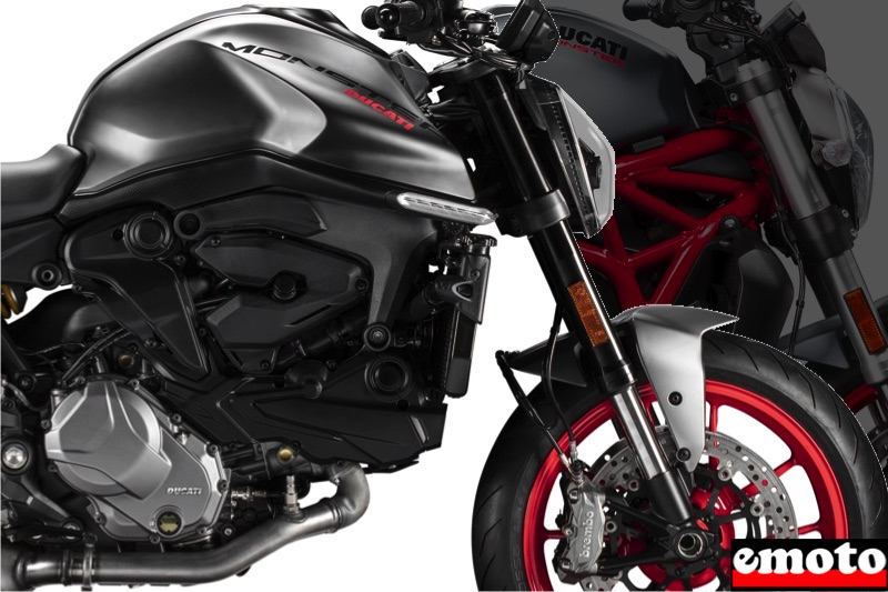 Comparatif Ducati Monster 2021 vs Monster 821, comparatif ducati monster 2021 et 821