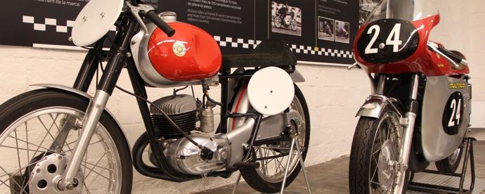 Exposition Bultaco au musée de la moto à Barcelone par Jean-Michel Lainé