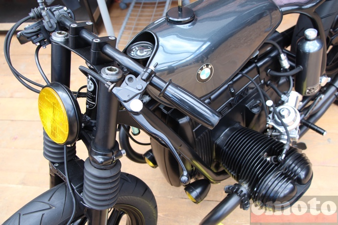 le french atelier bmw r80rt1 detail du guidon