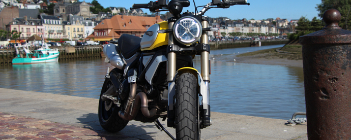 Road Trip Ducati Scrambler 1100, Paris Normandie
