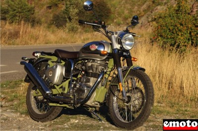 Essai Royal Enfield Bullet 500 Trials
