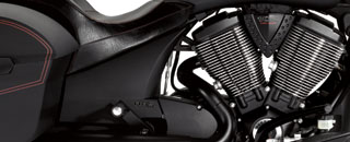 Victory Hard Ball, un premier bagger dark custom