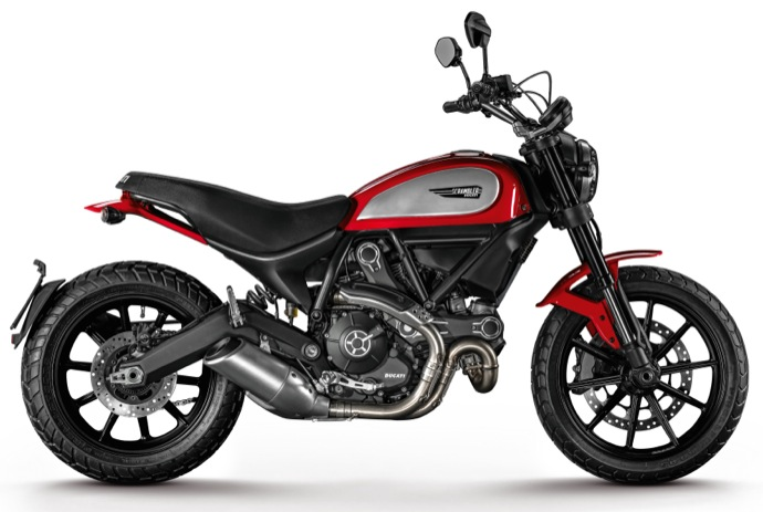ducati scrambler icon rouge la version de base la plus accessible