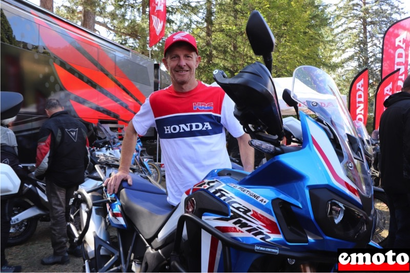 David Frétigné ouvre son Off Road Center Honda, david fretigne et son africa twin a l alpes aventure motofestival