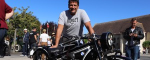 Normandy Beach Race : Hans avec sa BMW R63 de 1929