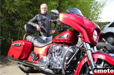 Fabrice et son Indian Chieftain chez Indian Angers
