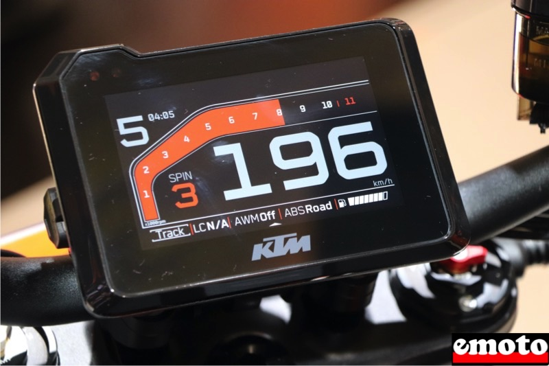 ktm super duke 1290 r tableau de bord tft