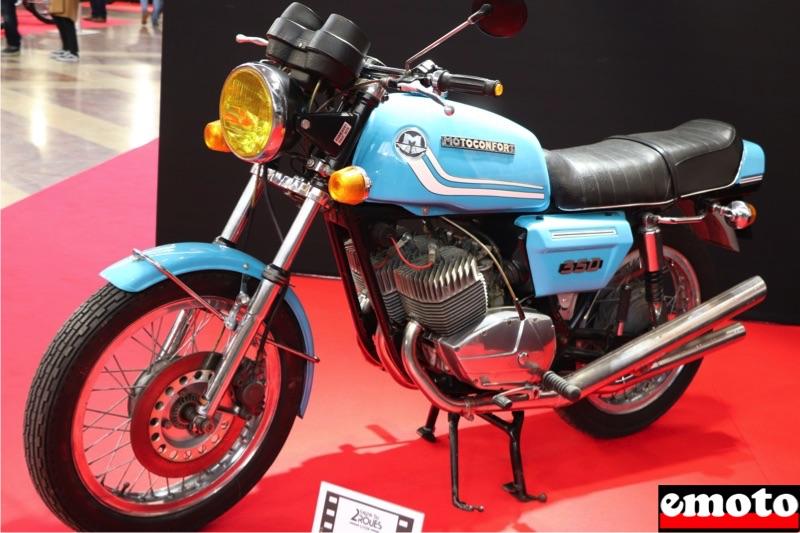 Motos du cinéma au salon du deux-roues de Lyon en 20 films Motoconfort-350-bleue-dans-la-gifle