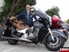 Alain et son Indian Roadmaster chez Indian Toulon