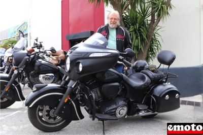 Serge et son Indian Chieftain Dark Horse chez Indian Toulon