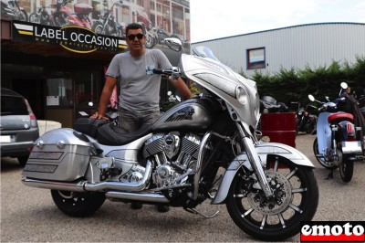 Hassen et son Indian Chieftain Elite chez Indian Lyon