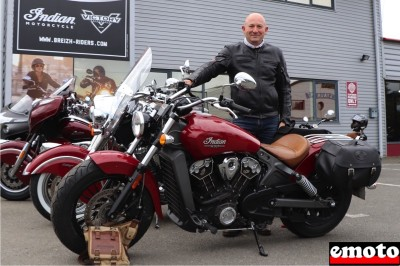 Fabrice et son Indian Scout 1200 chez Indian Rennes